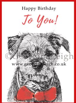Dog Birthday Card - Border Terrier